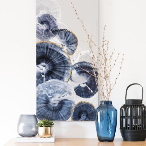ou trouver vase deco pas cher bleu en verre