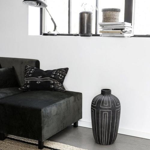 ou trouver vase fleurs sechees jarre noir ethnique