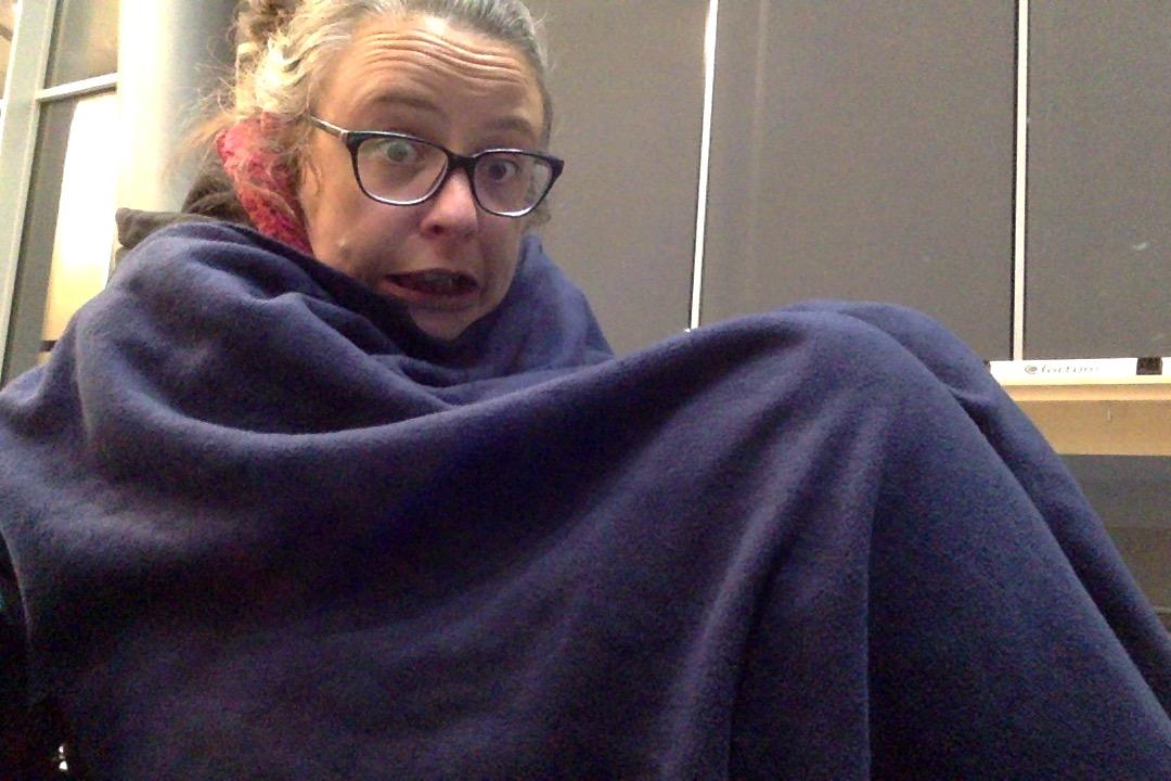 quotidien nomade 2020 froid aéroport
