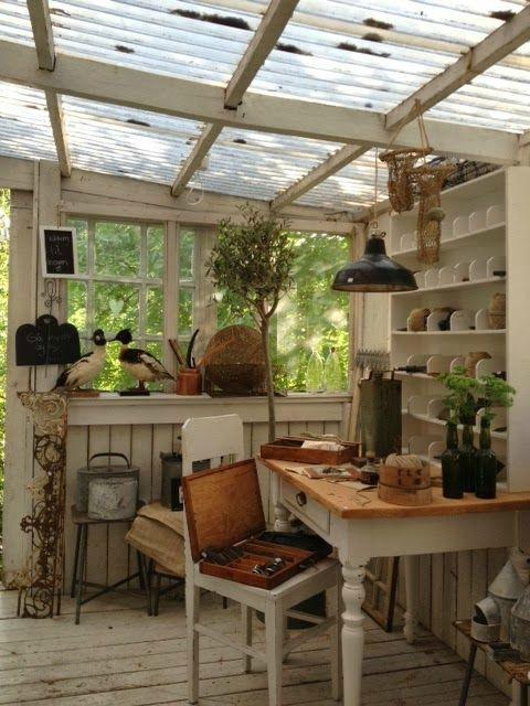 reve cabane nature atelier veranda serre