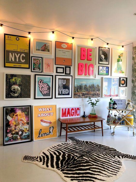 reve deco salon decoration murale cadre moderne et vintage