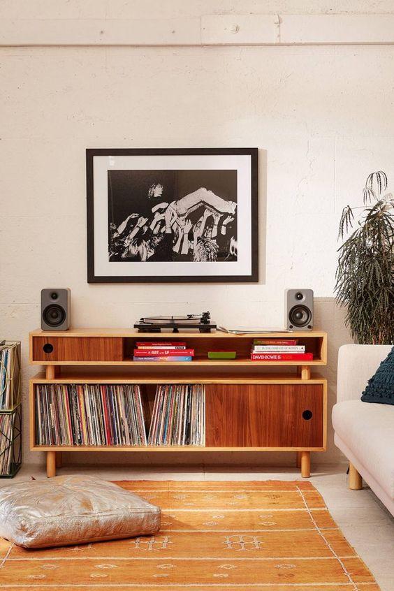 reve deco salon musique meuble rangement vinyle