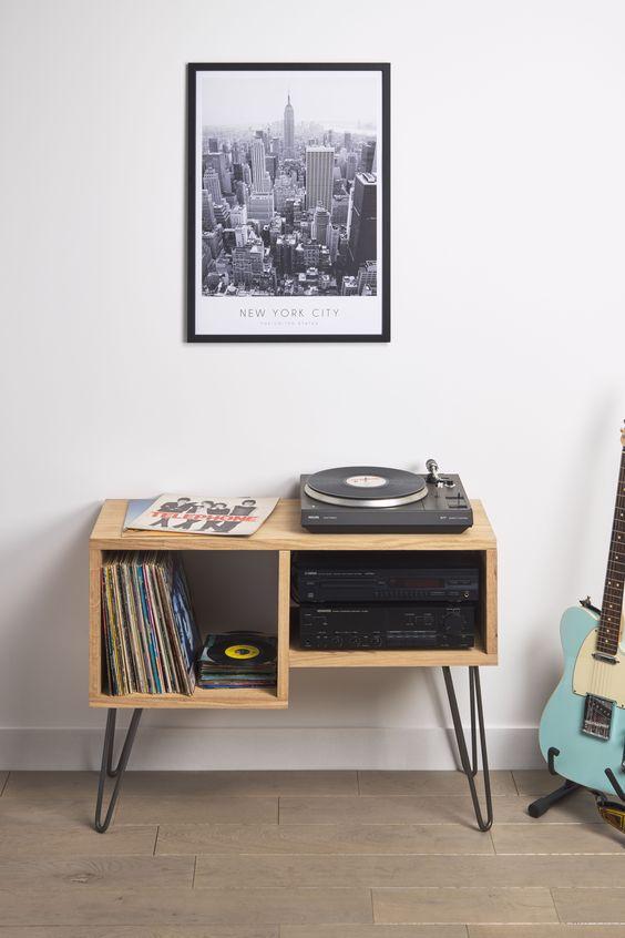 reve deco salon musique petite meuble platine vinyle
