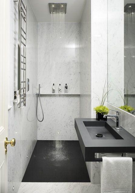 reve deco toute petite salle de bain douche italienne lavabo