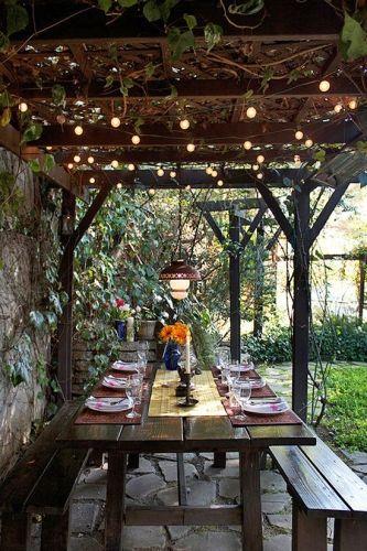 reve sala pergola jardin grande table repas exterieur protection soleil