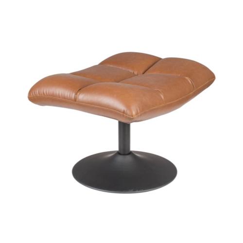 salon cocooning meuble appoint repose pied simili cuir couleur naturelle