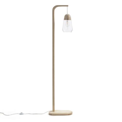 salon cosy eclairage luminaire appoint lampadaire bois et verre slow intérieur