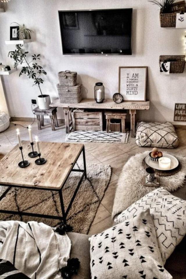 salon cosy nesting exemple meuble appoint plus de confort pièce à vivre