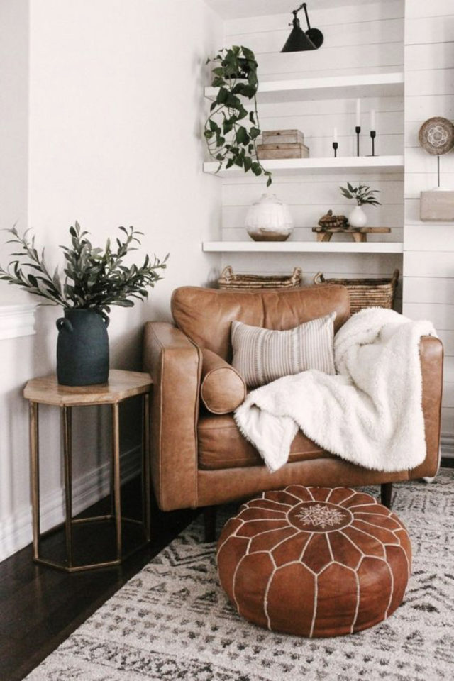 salon cosy nesting exemple fauteuil XXL cuir confortable