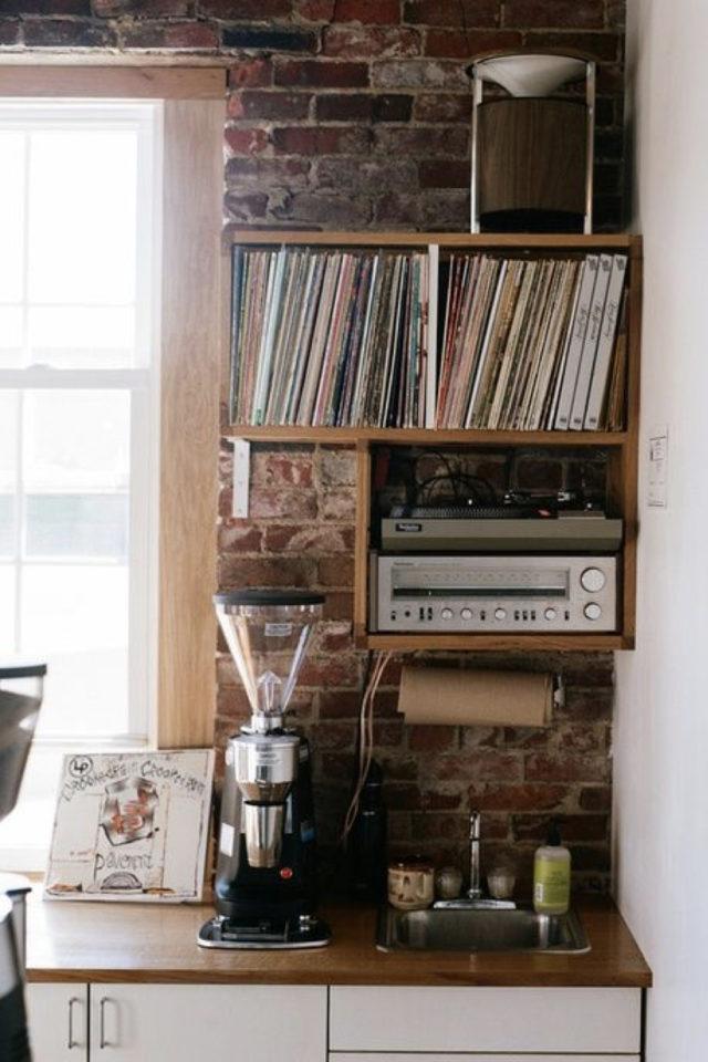 decoration rock rangement vinyle cuisine gain de place petit logement