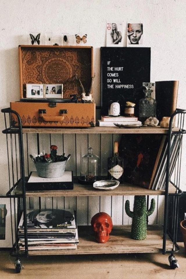 deco rock eclectique detail rétro et vintage petits objets décoratifs exemple