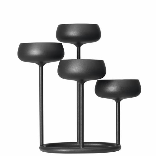 accessoire deco gris moderne design bougeoir anthracite