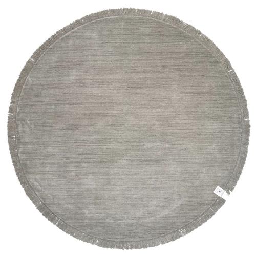 accessoire deco moderne gris salon tapis rond design