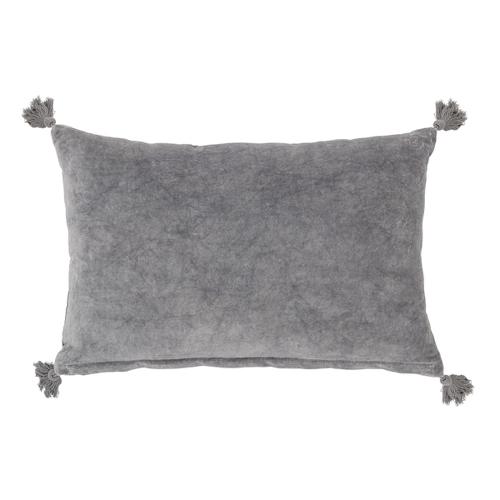 accessoire deco moderne gris salon coussin rectangulaire