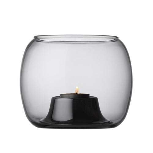 accessoire deco moderne gris salon photophore en verre design