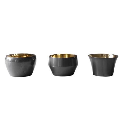 accessoire deco moderne gris salon photophore métallique design