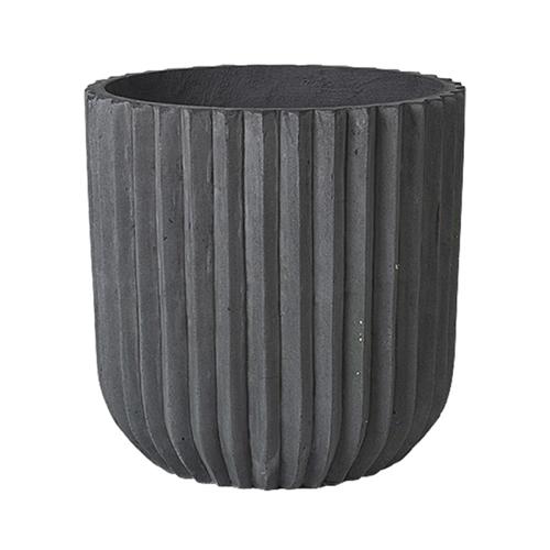 accessoire deco moderne gris salon cache pot fleur anthracite