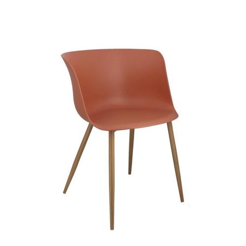 accessoire deco terracotta association gris chaise salle à manger