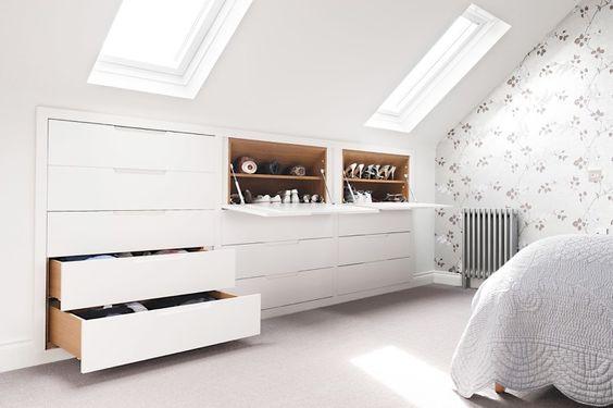 amenagement dressing sous toiture tiroir sur mesure rénovation grenier chambre mansardée