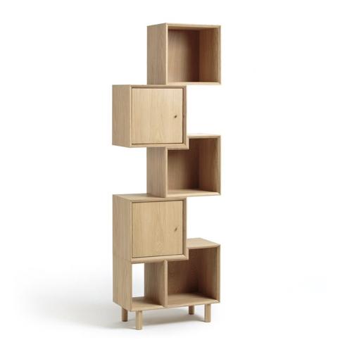 amenager coin lecture salon pas cher bibliothèque bois asymétrique petit logement