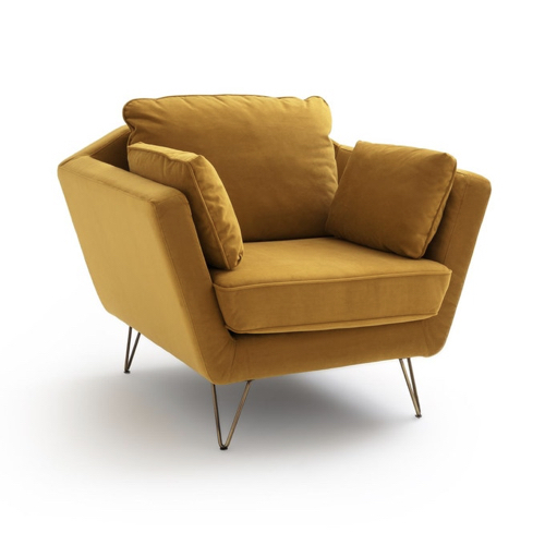 amenager coin lecture salon pas cher petit fauteuil jaune confortable