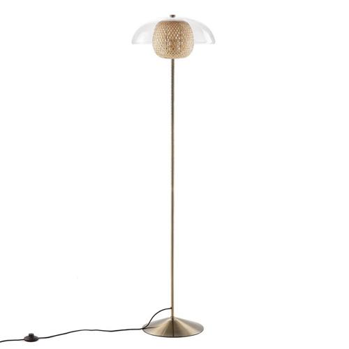 amenager coin lecture salon pas cher lampadaire bois et verre moderne