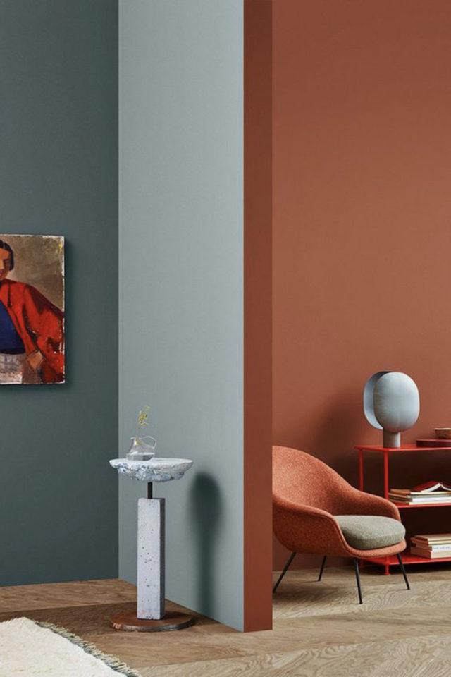 association couleur tendance et gris exemple association couleur moderne terracotta gris-vert