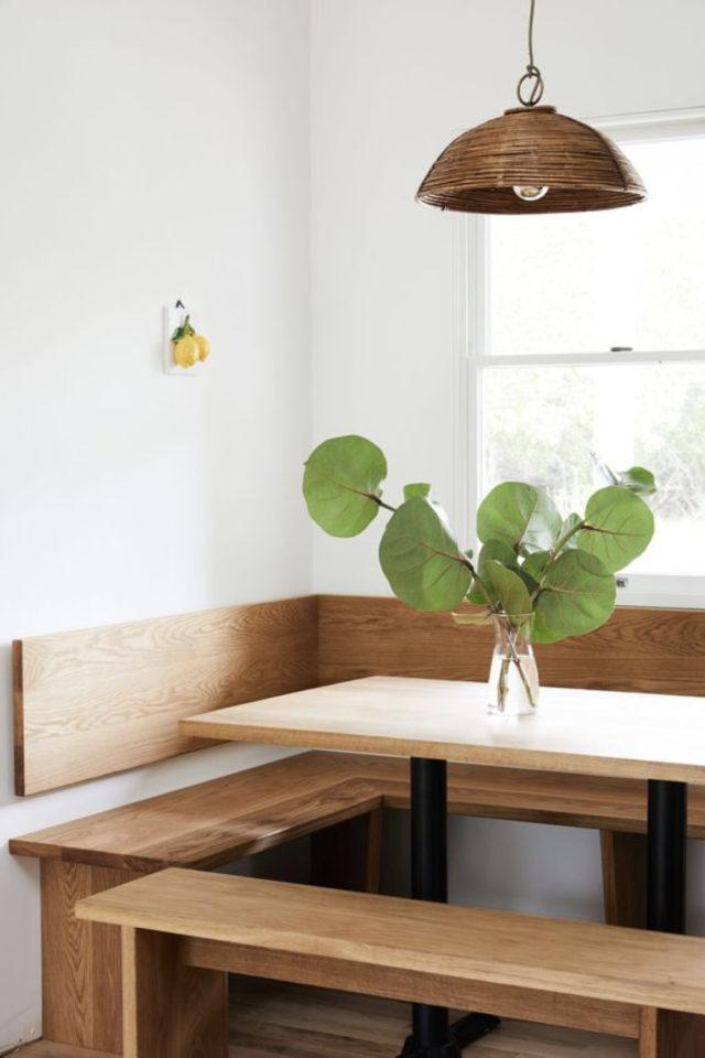 banquette angle coin repas mois minimaliste pas encombrant gain de place