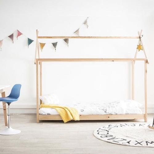 chambre enfant deco nature classique lit cabane moderne