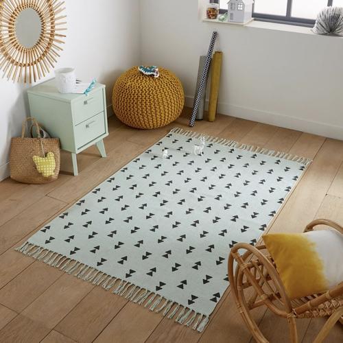 chambre enfant deco nature classique tapis vert menthe moderne