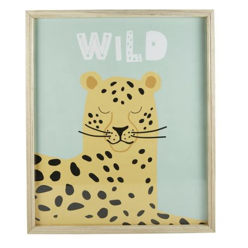 chambre enfant decoration animaux cadre illustration animal de la jungle safari