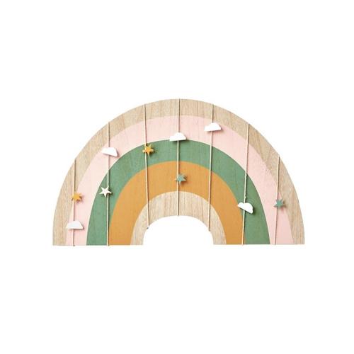 chambre enfant decoration arc en ciel pele mele vert baudet