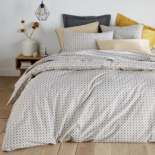 chambre linge de lit gris moderne cosy jaune