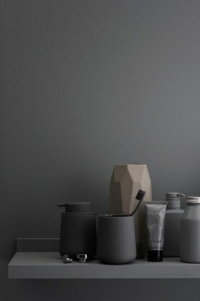 comment utiliser gris foncé déco ambiance moderne et design détail décoration pots et vases