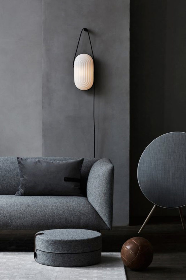 comment utiliser gris foncé déco salon séjour canapé gris anthracite design