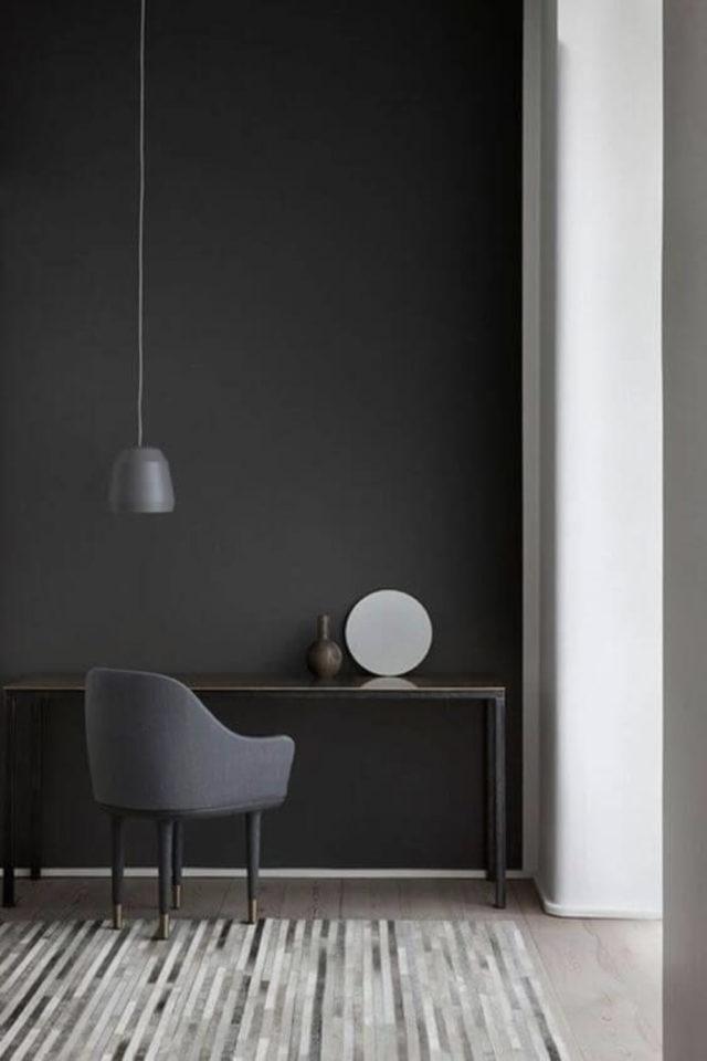 comment utiliser gris foncé déco ambiance design bureau minimaliste anthracite presque noir