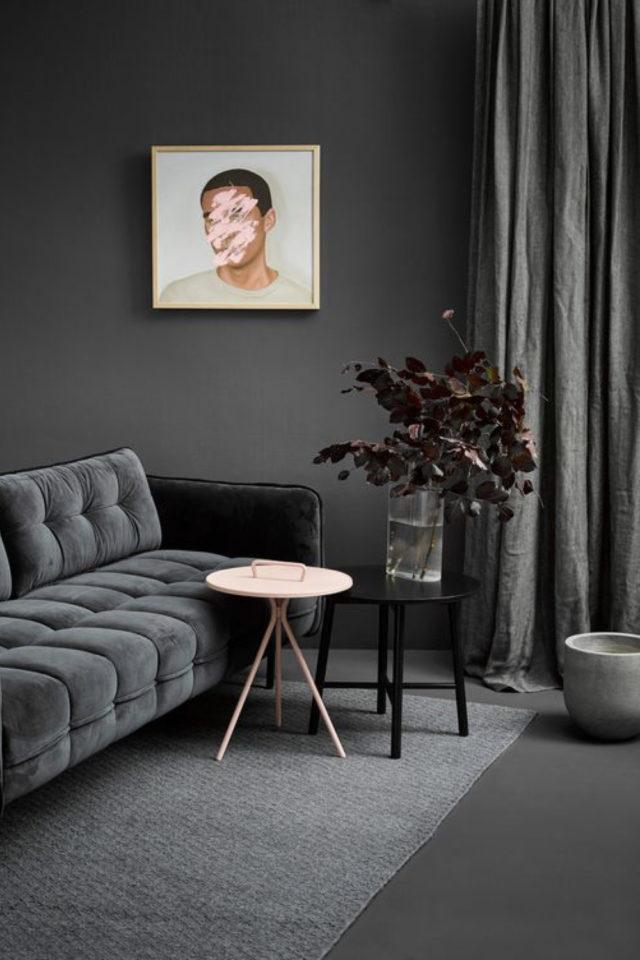 comment utiliser gris foncé déco camaïeux de gris nuances salon