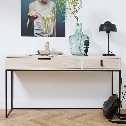 deco mobilier petit prix soldes 2021 decocolico console bois et pied métal moderne