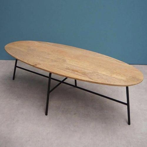 deco mobilier petit prix soldes 2021 decocolico table basse en bois ovale avec piètement métal
