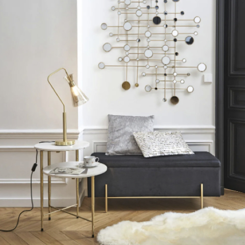 decoration petit prix maisons du monde soldes 2021 lampe à poser dorée par cher