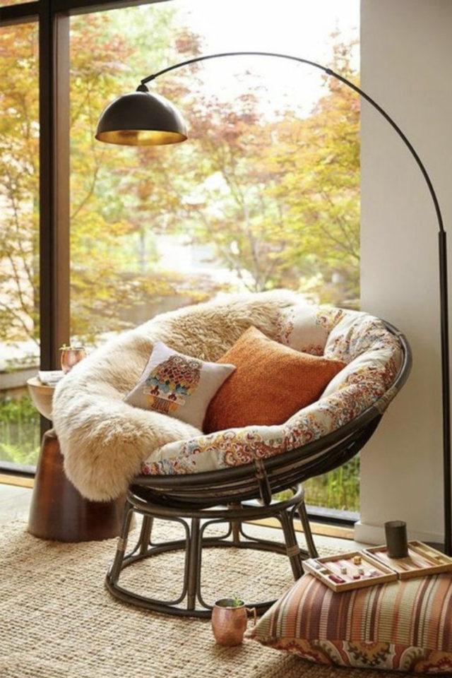 exemple amenagement coin lecture salon papazan cosy cocooning pour lire