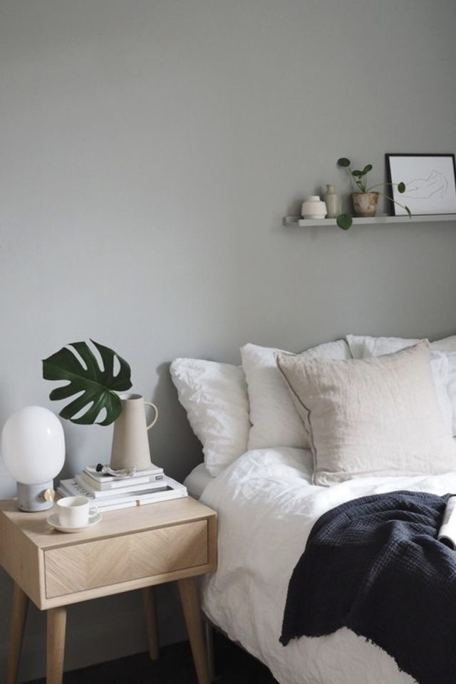idee deco a copier gris chambre adulte cocooning nesting gris clair