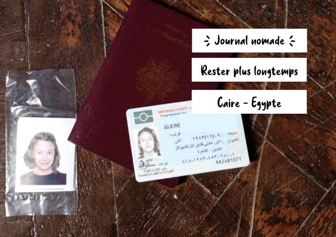 journal nomade extension visa egypte