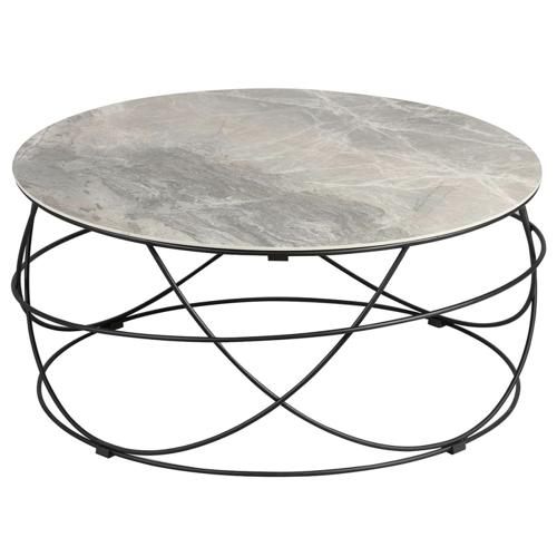 meuble gris pas cher pour salon table basse ronde plateau marbre