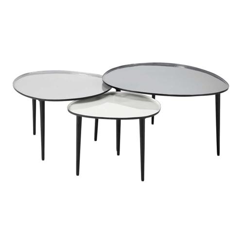 meuble gris pas cher pour salon 3 tables basses gigognes grises