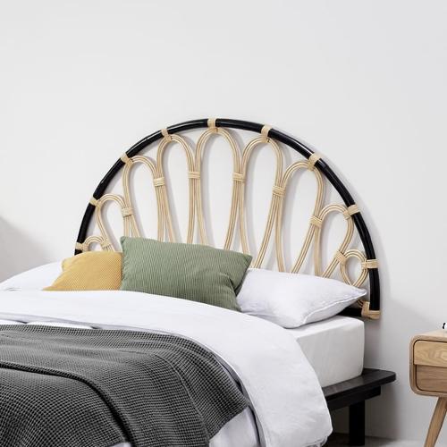 meuble moderne petit prix made soldes 2021 tête de lit en rotin