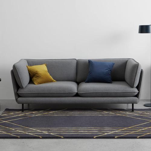 meuble moderne petit prix made soldes 2021 tapis style art déco bleu et or