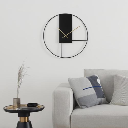 meuble moderne petit prix made soldes 2021 horloge design noire