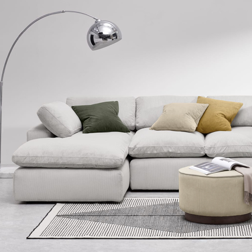 meuble moderne petit prix made soldes 2021 canapé d'angle avec méridienne confortable