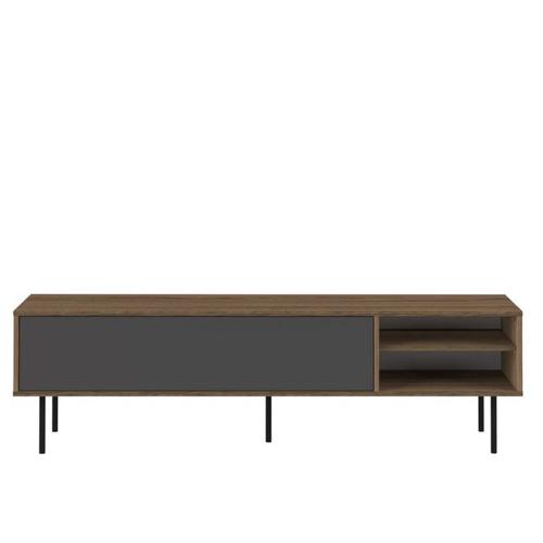 mobilier gris pas cher pour salon meuble TV bois et gris moderne